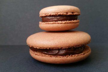 Macarons Au Chocolat Noir Combava & Baies Roses